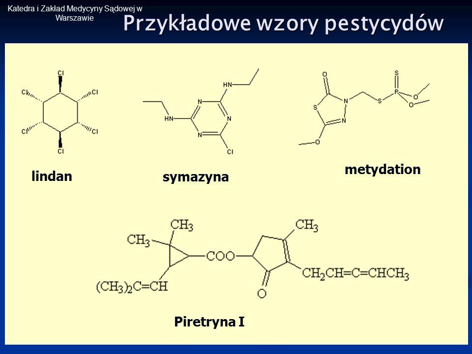 Przykładowe wzory pestycydów
