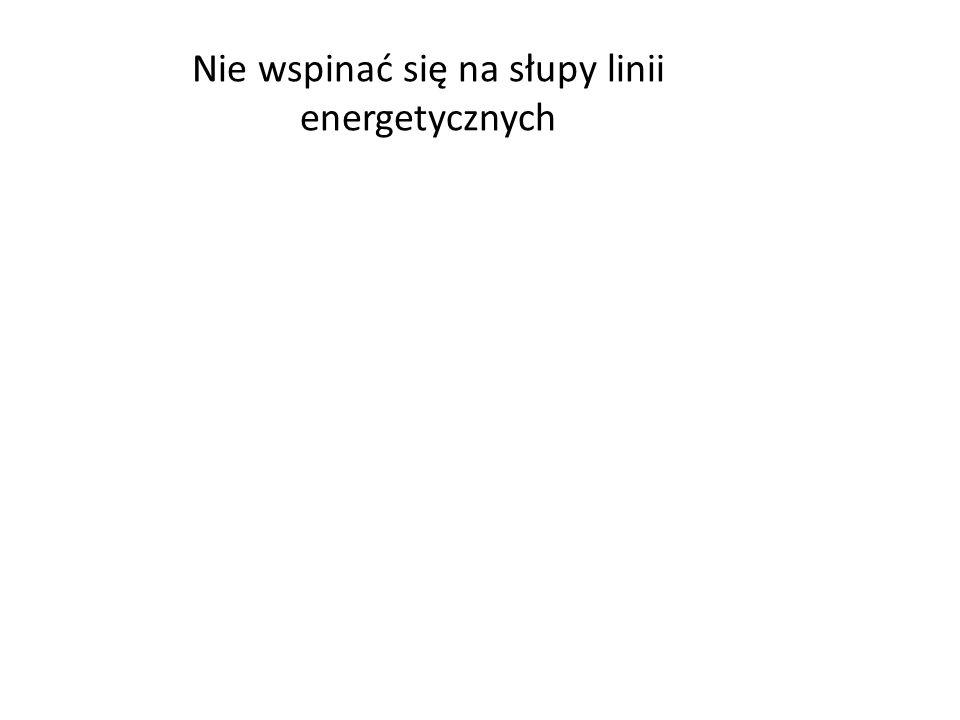 Nie wspinać się na słupy linii energetycznych