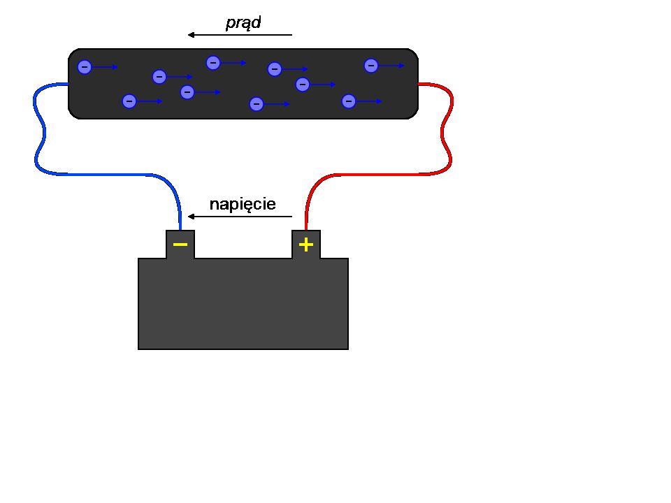 Tu widzimy tzw. prąd, niestety ktoś źle coś kiedyś wymyślił, dlatego prąd leci od MINUSA do PLUSA