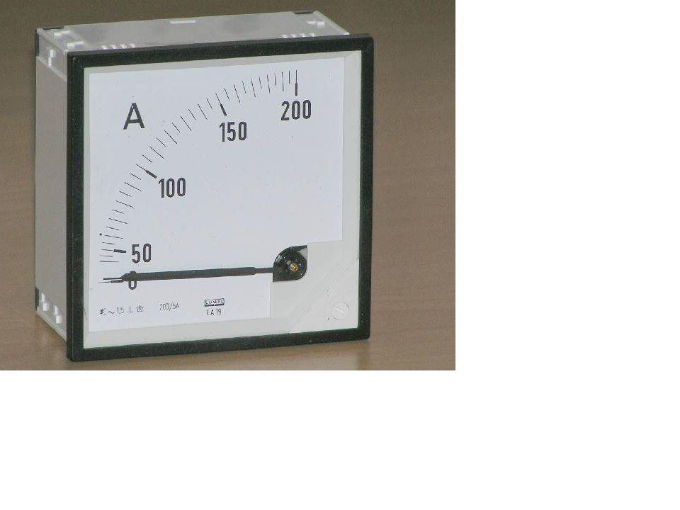 Amperomierz – przyrząd pomiarowy służący do pomiaru natężenia prądu elektrycznego.