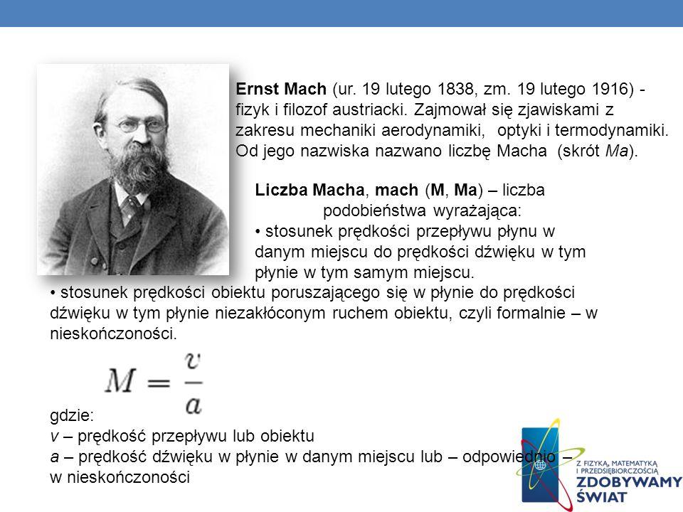 Ernst Mach (ur. 19 lutego 1838, zm