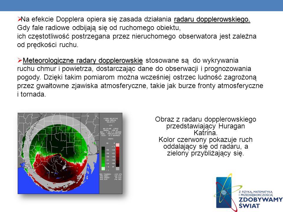 Obraz z radaru dopplerowskiego przedstawiający Huragan Katrina.