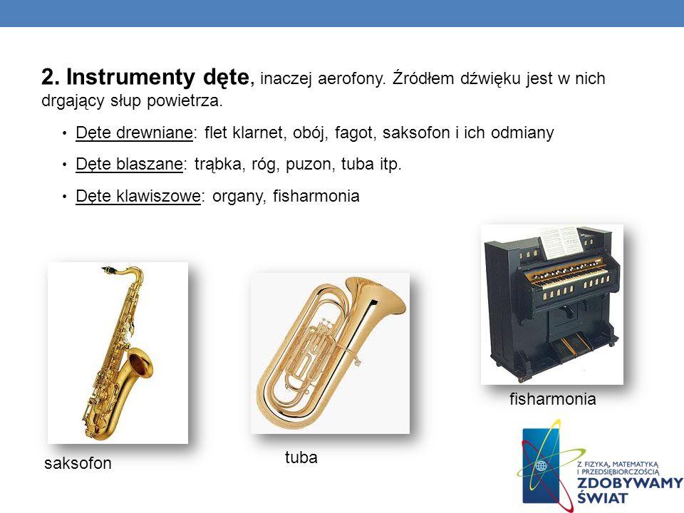 2. Instrumenty dęte, inaczej aerofony