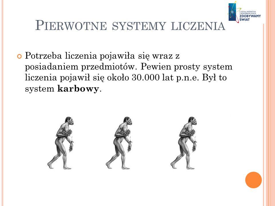 Pierwotne systemy liczenia