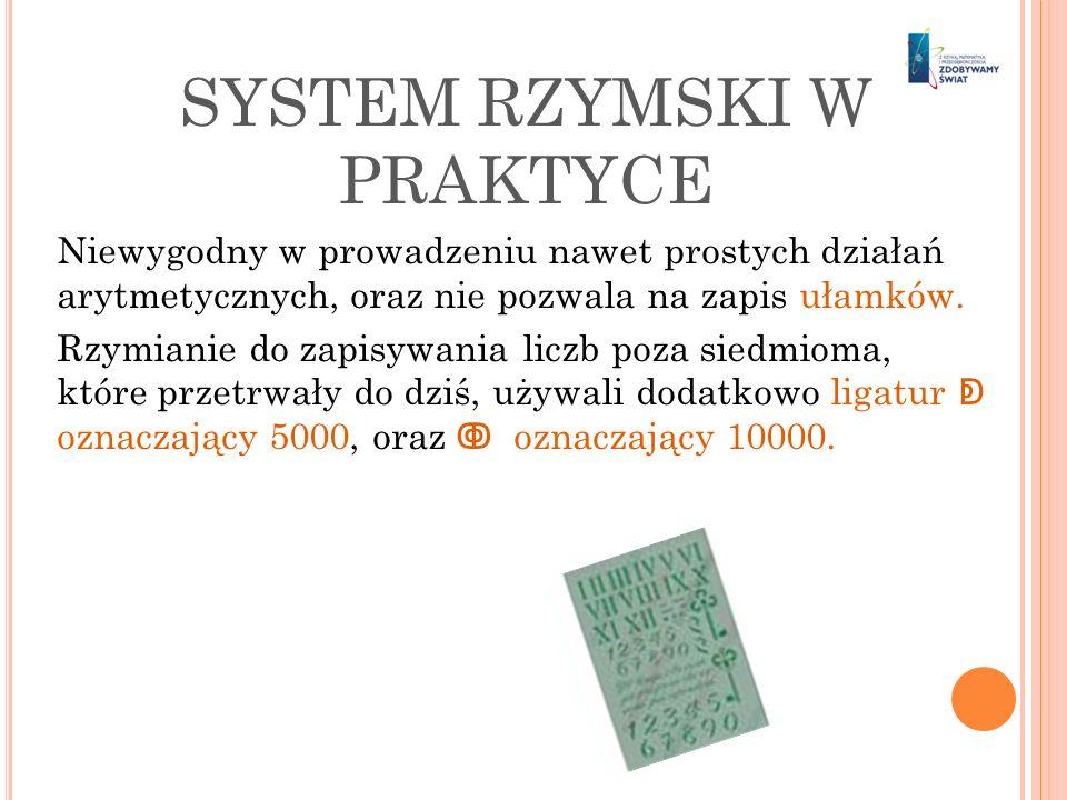 SYSTEM RZYMSKI W PRAKTYCE