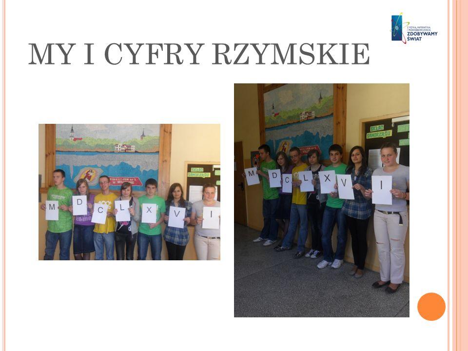 MY I CYFRY RZYMSKIE