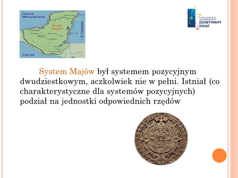 System Majów był systemem pozycyjnym dwudziestkowym, aczkolwiek nie w pełni.