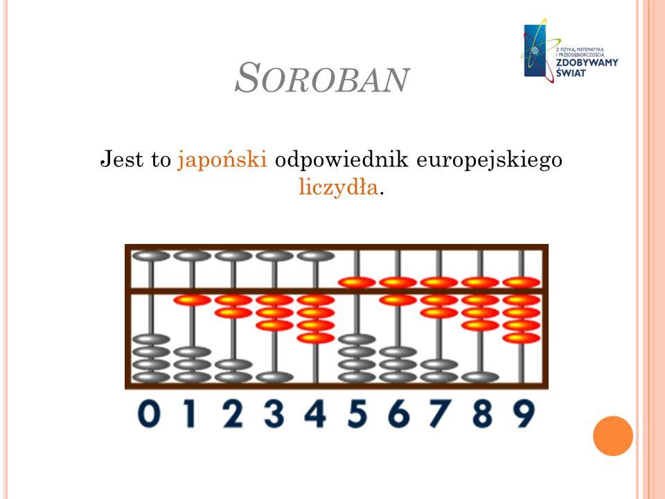 Jest to japoński odpowiednik europejskiego liczydła.