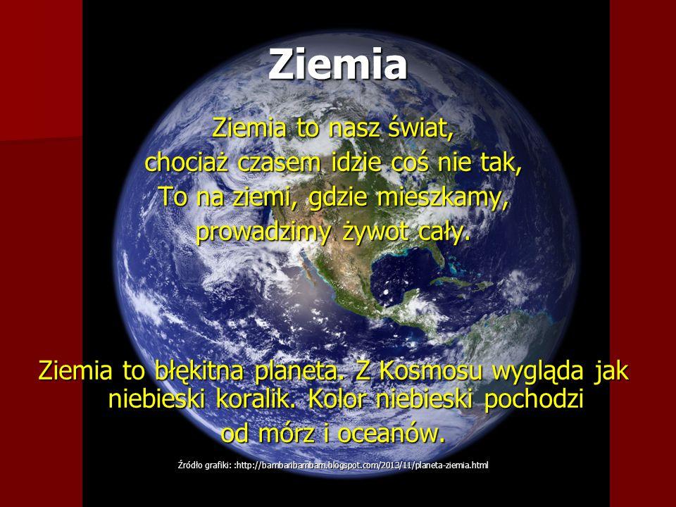 Ziemia Ziemia to nasz świat, chociaż czasem idzie coś nie tak,