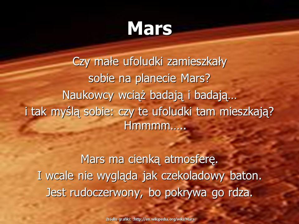 Mars Czy małe ufoludki zamieszkały sobie na planecie Mars