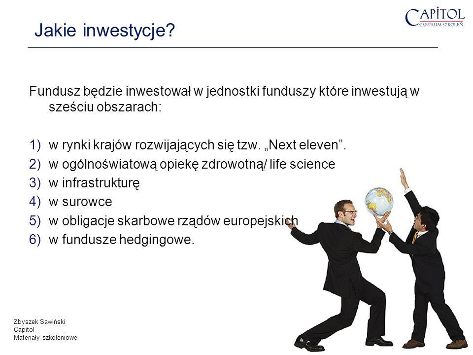 Jakie inwestycje Fundusz będzie inwestował w jednostki funduszy które inwestują w sześciu obszarach: