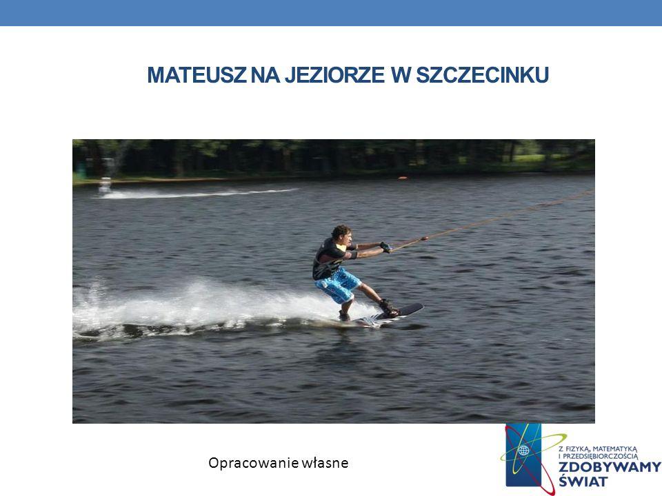 Mateusz na jeziorze w Szczecinku