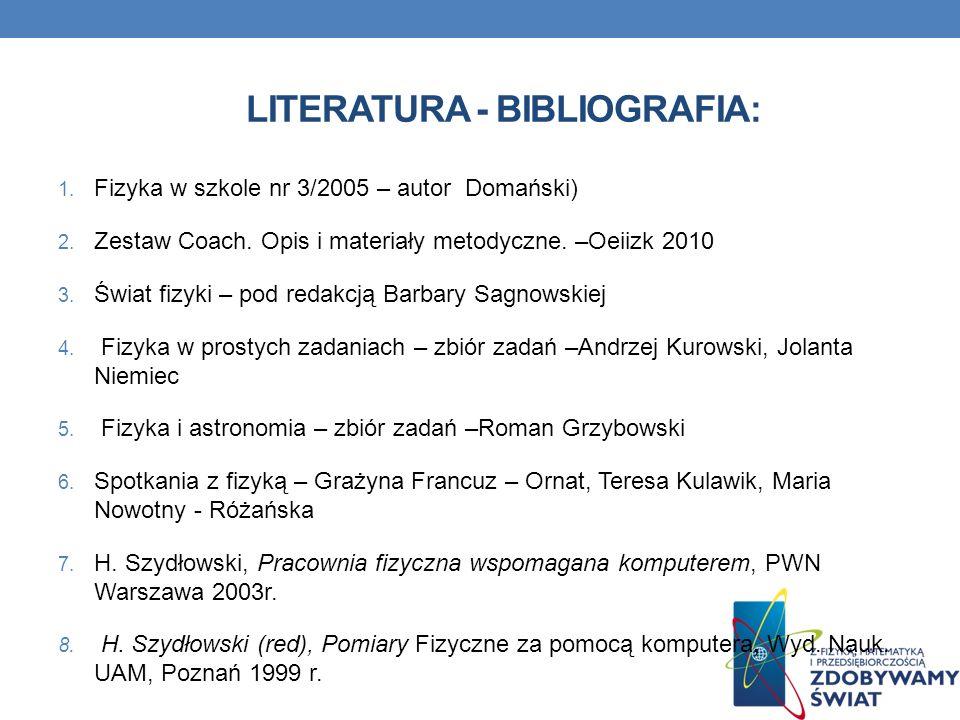 Literatura - Bibliografia: