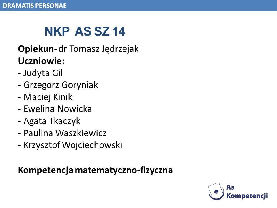 NKP As Sz 14 Opiekun- dr Tomasz Jędrzejak Uczniowie: Judyta Gil