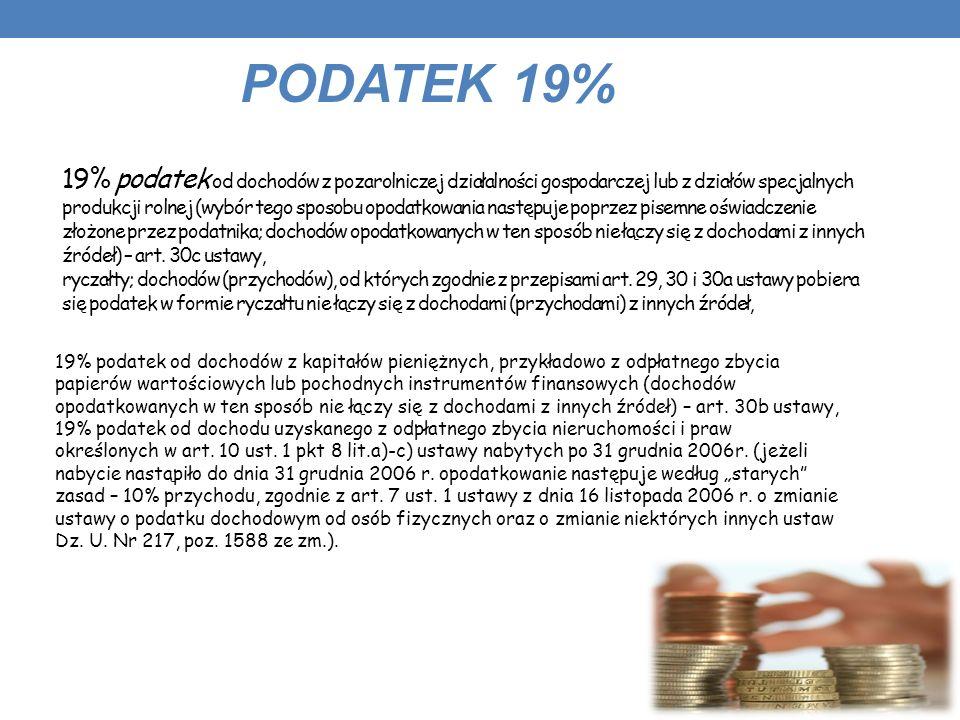 PODATEK 19%