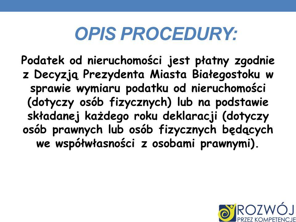 OPIS PROCEDURY: