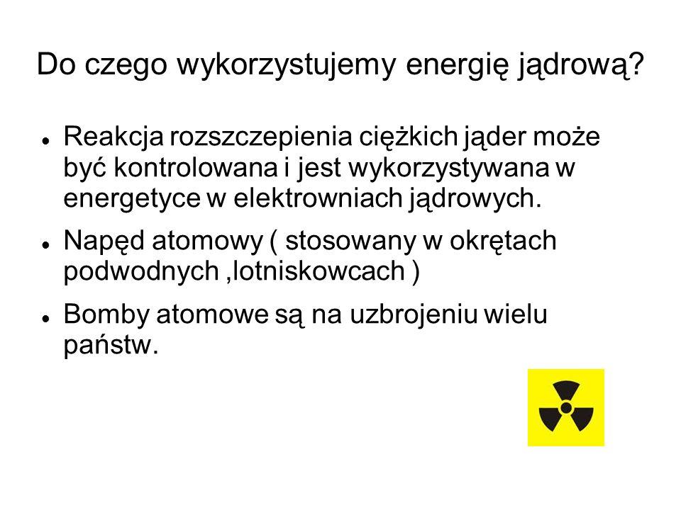 Do czego wykorzystujemy energię jądrową