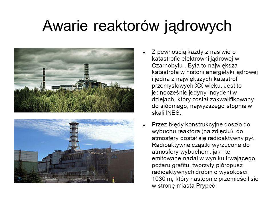 Awarie reaktorów jądrowych