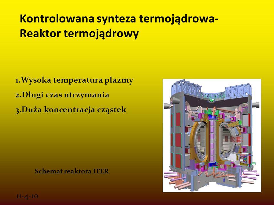 Kontrolowana synteza termojądrowa- Reaktor termojądrowy