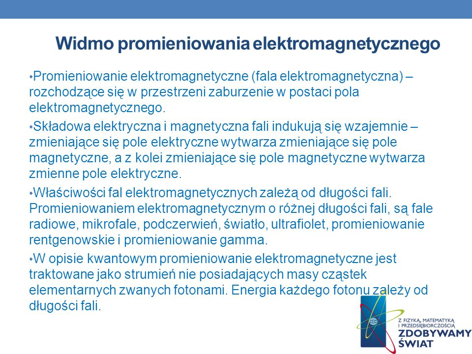 Widmo promieniowania elektromagnetycznego