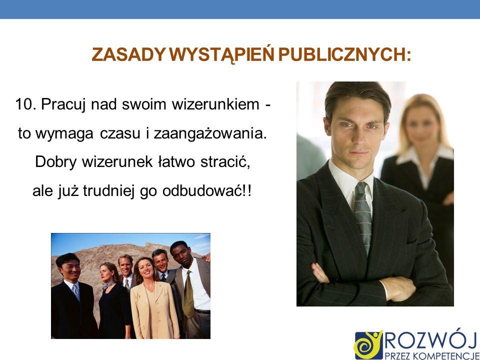 Zasady wystąpień publicznych: