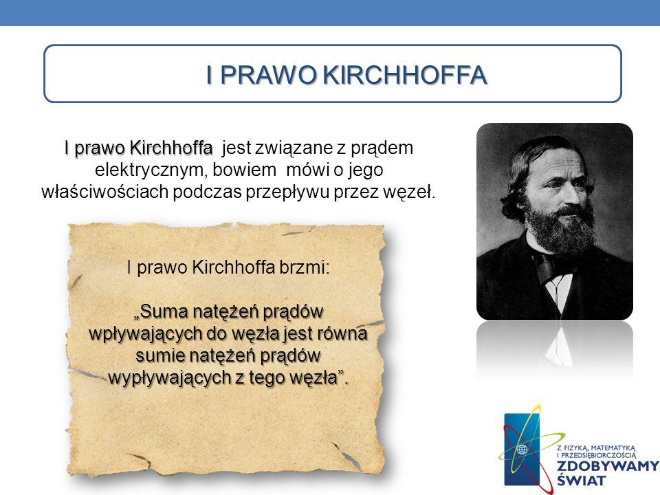 I prawo Kirchhoffa brzmi: