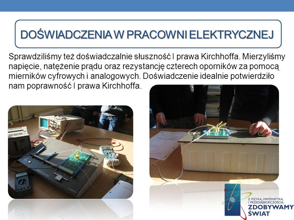Doświadczenia w pracowni elektrycznej