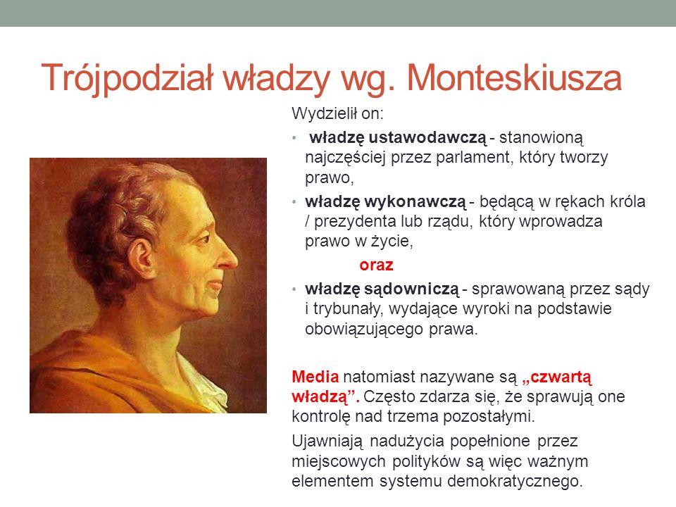 Trójpodział władzy wg. Monteskiusza