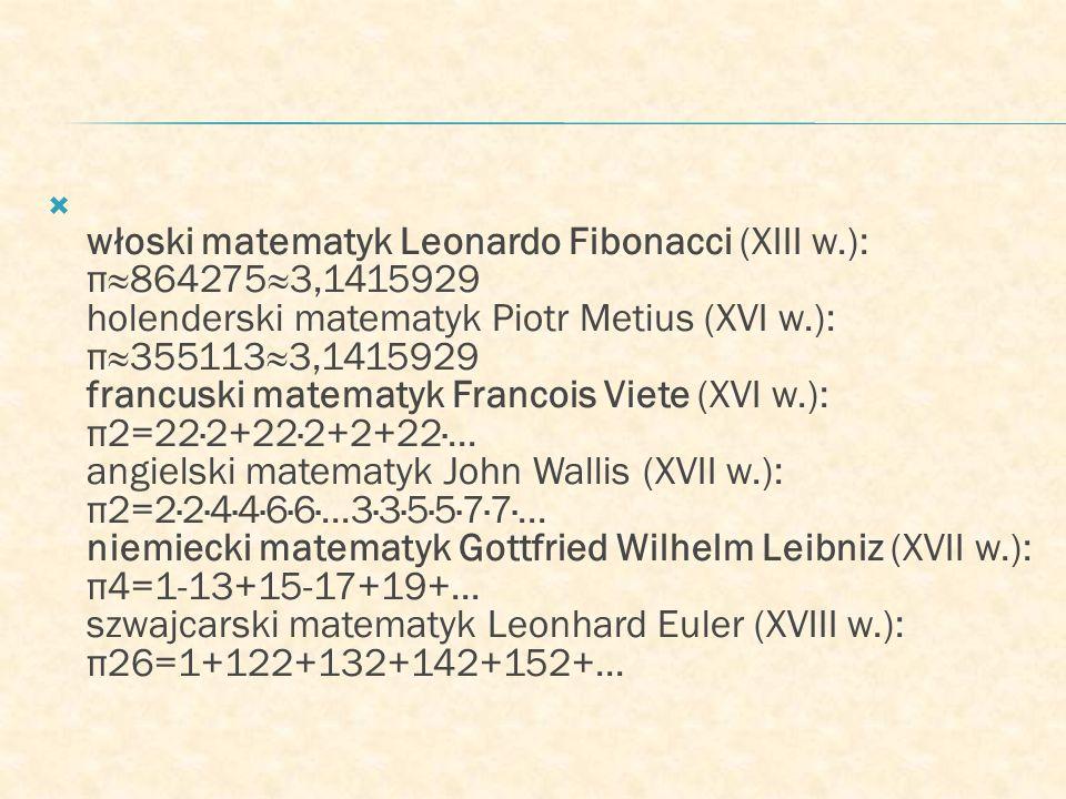 włoski matematyk Leonardo Fibonacci (XIII w