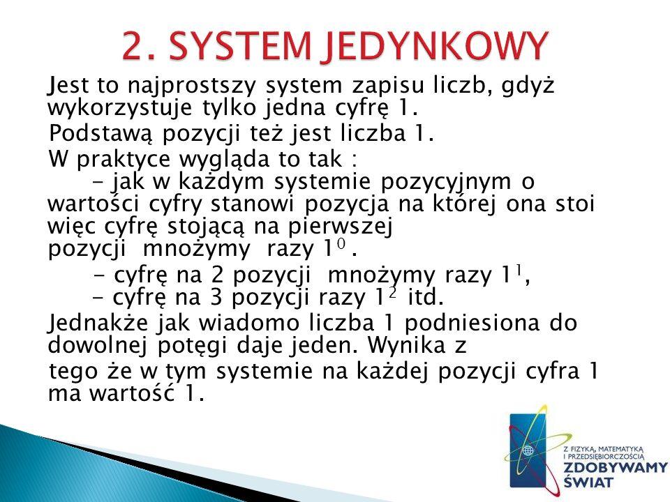 2. SYSTEM JEDYNKOWY