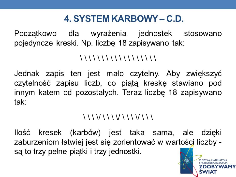 4. SYSTEM KARBOWY – C.D.