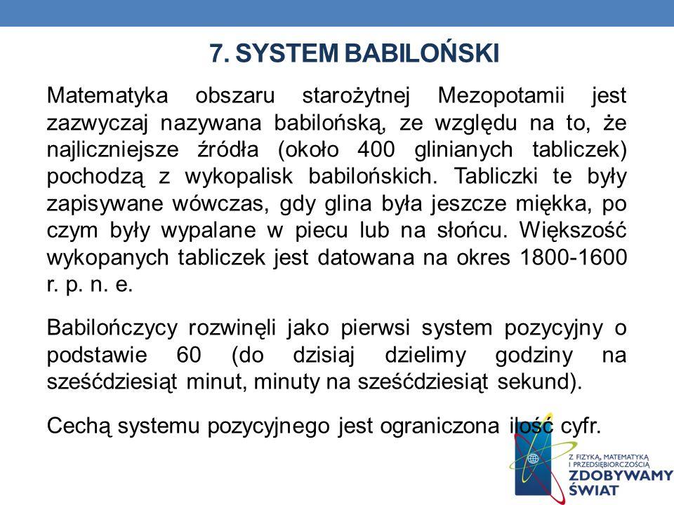 7. System babiloński