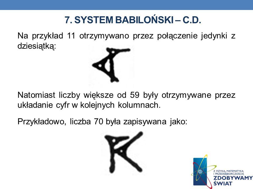 7. System babiloński – c.d.