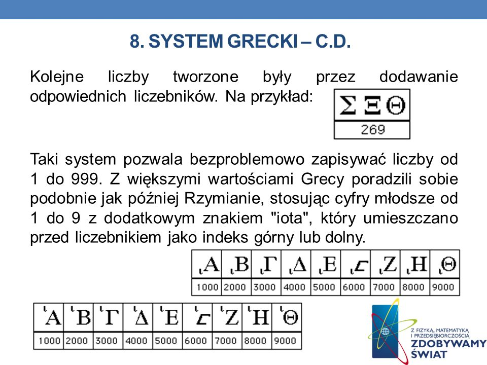 8. System grecki – C.D.