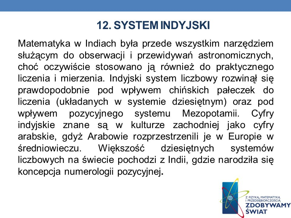12. System indyjski