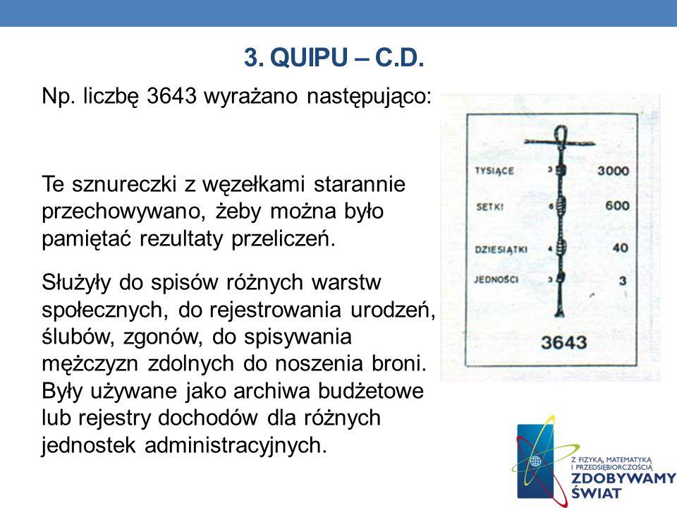 3. QUIPU – C.D.