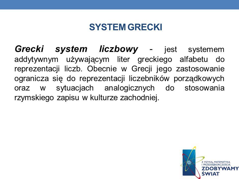System grecki