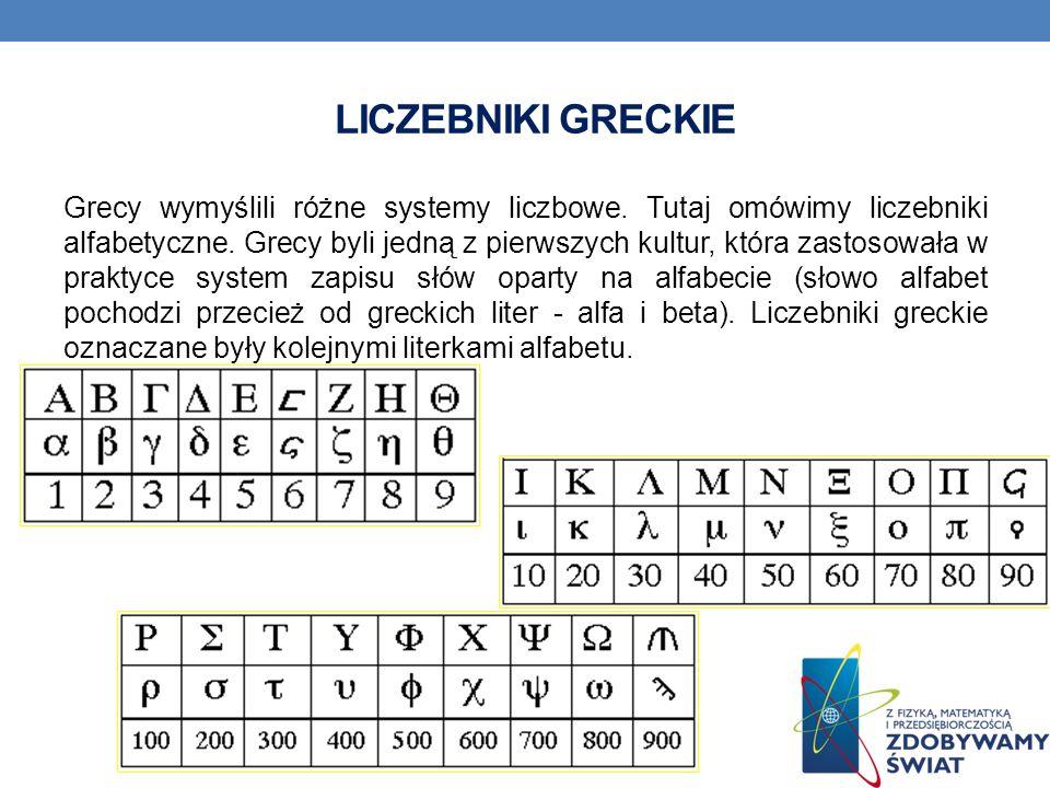 Liczebniki Greckie