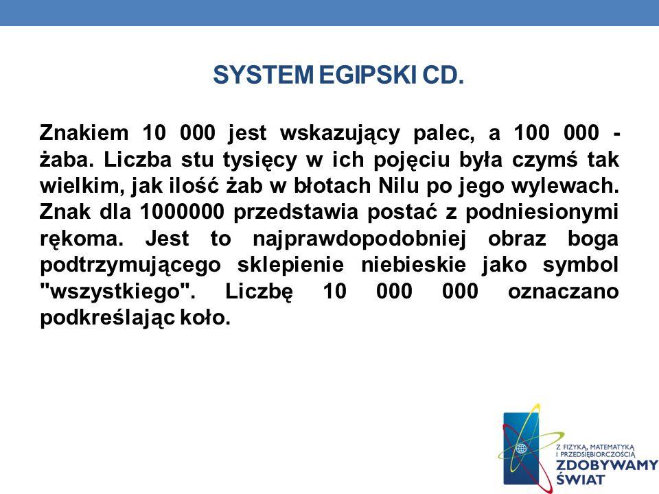 System egipski cd.