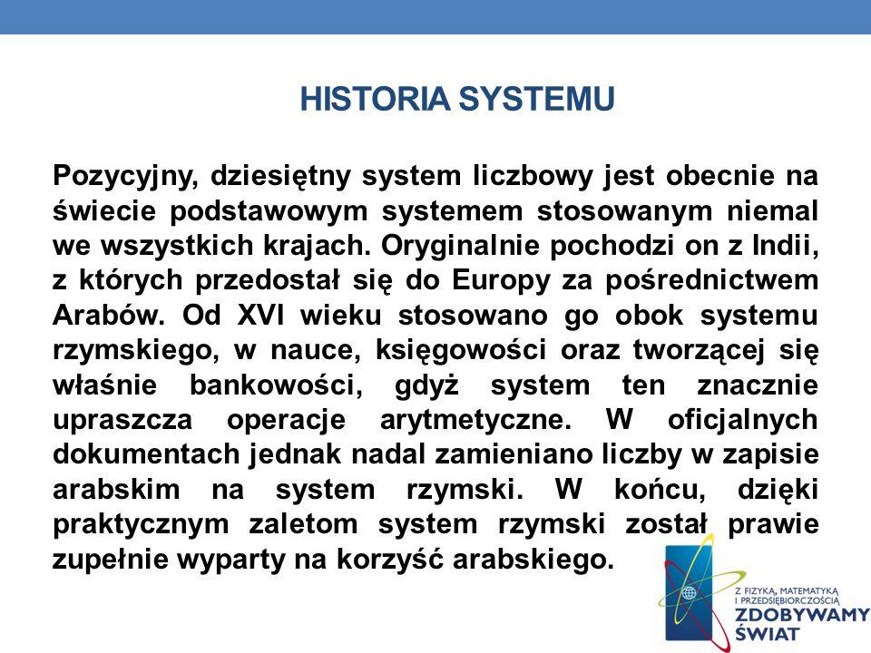 Historia systemu
