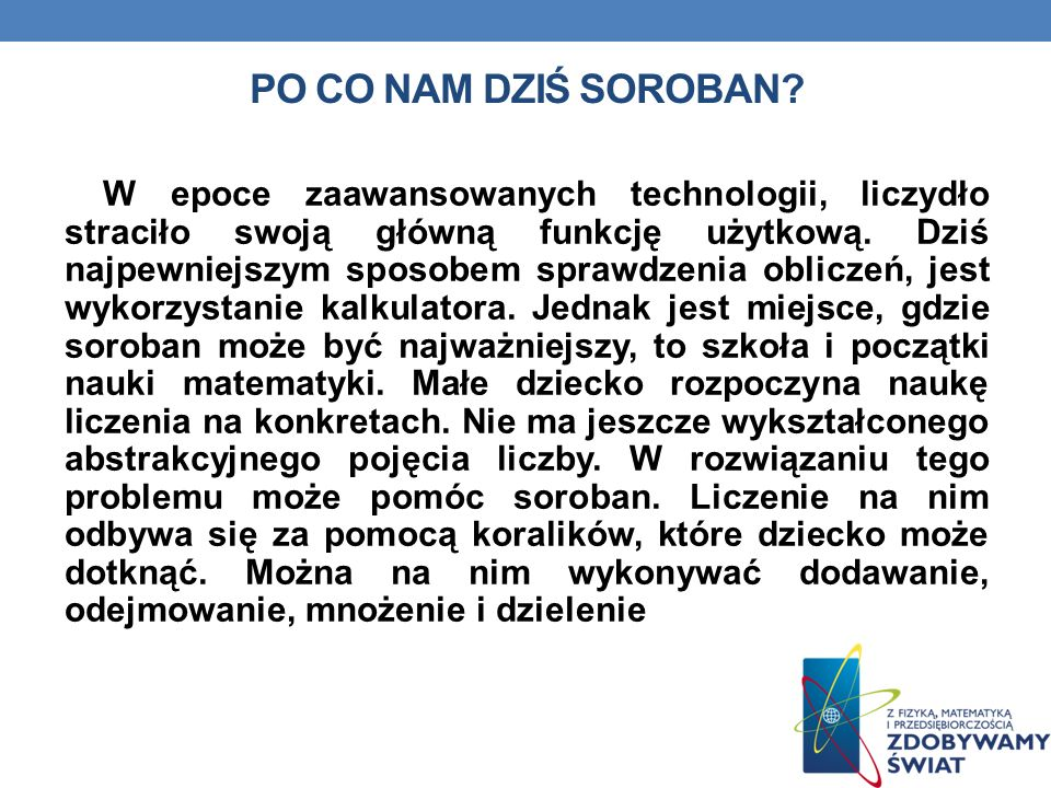 Po co nam dziś soroban