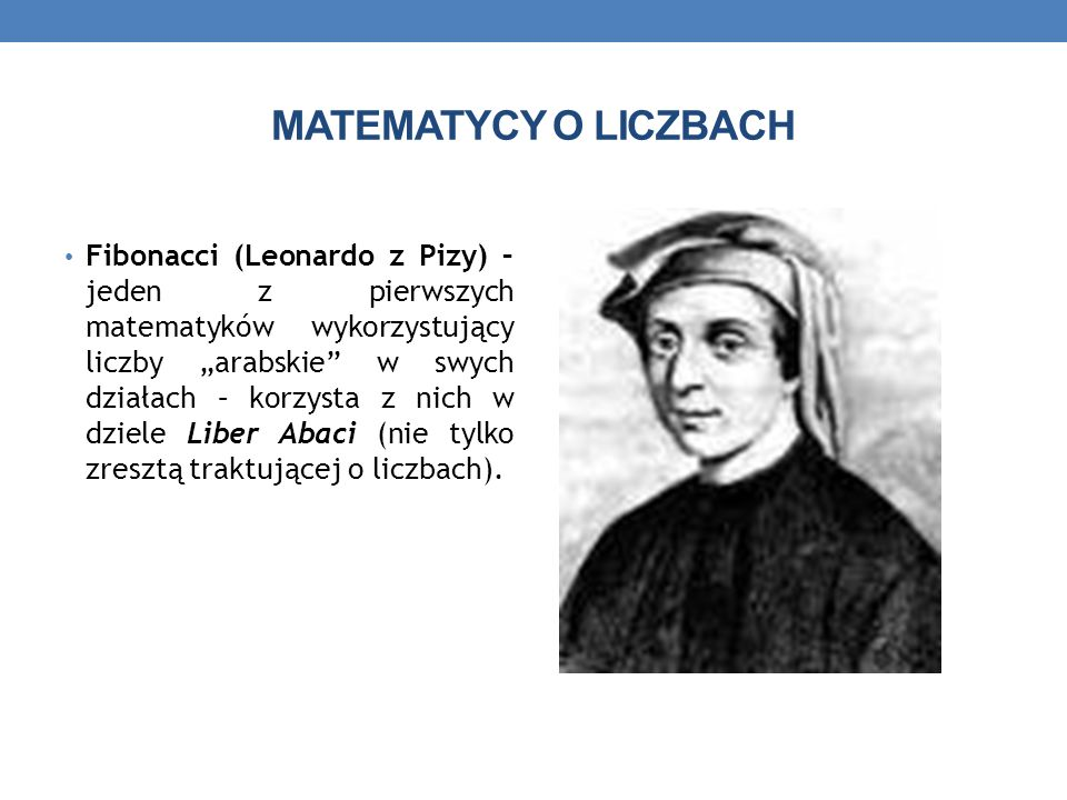 MATEMATYCY O LICZBACH