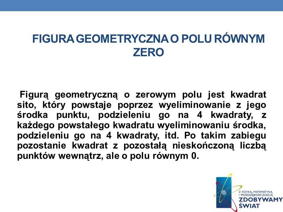 Figura geometryczna o polu równym zero