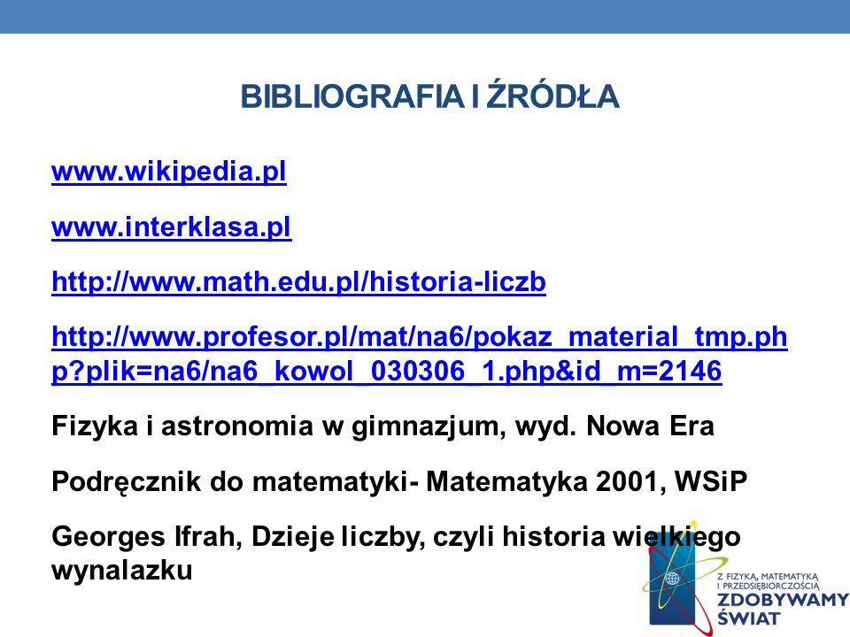 Bibliografia i źródła