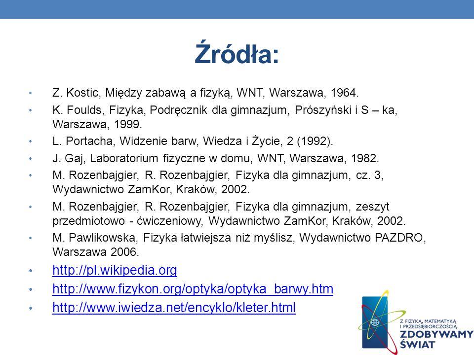 Źródła: http://pl.wikipedia.org