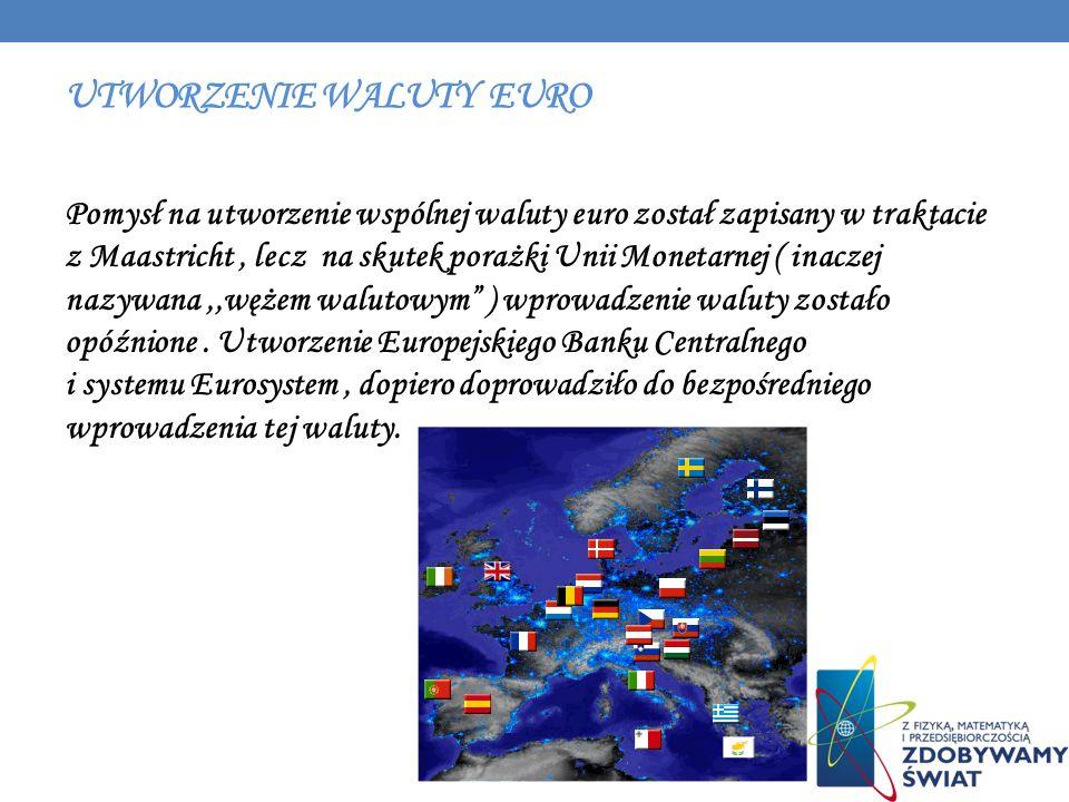 Utworzenie waluty euro