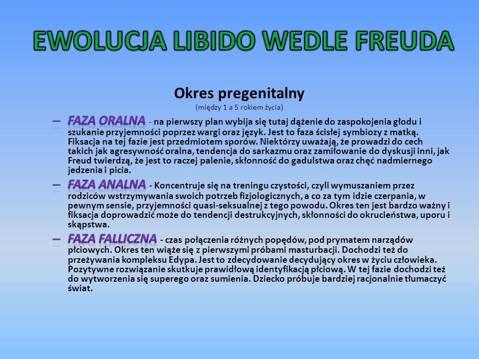EWOLUCJA LIBIDO WEDLE FREUDA