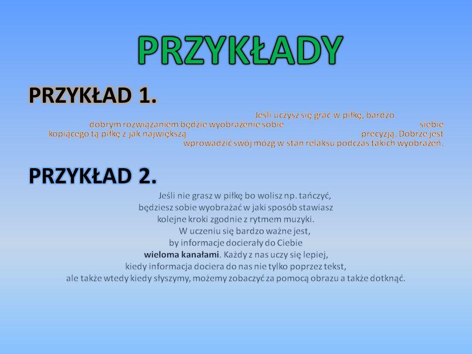 PRZYKŁADY PRZYKŁAD 1. PRZYKŁAD 2.