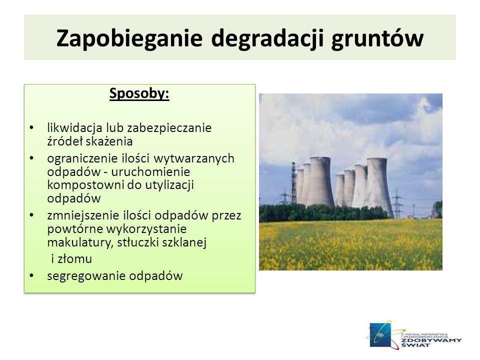Zapobieganie degradacji gruntów