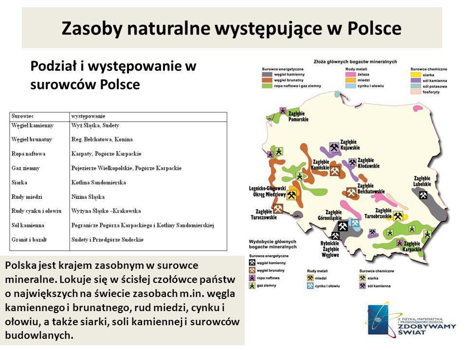 Zasoby naturalne występujące w Polsce
